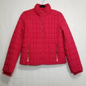 J Crew Snowcap quilted jacket red size M down fill